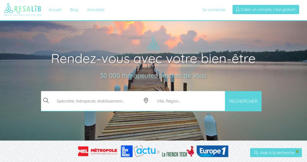 capture ecran accueil resalib.fr