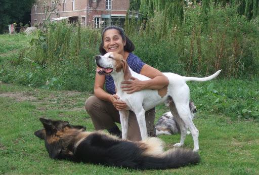 Gislaine Duboc photo avec chien