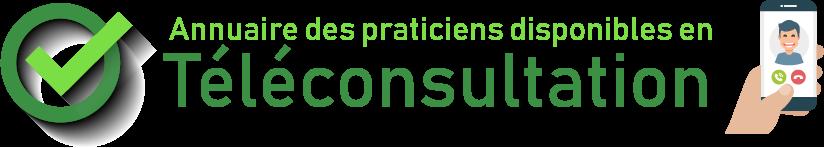 Logo annuaire des praticiens disponibles en téléconsultation