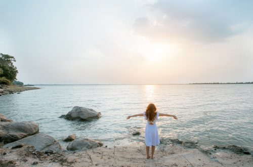 femme en meditation zen